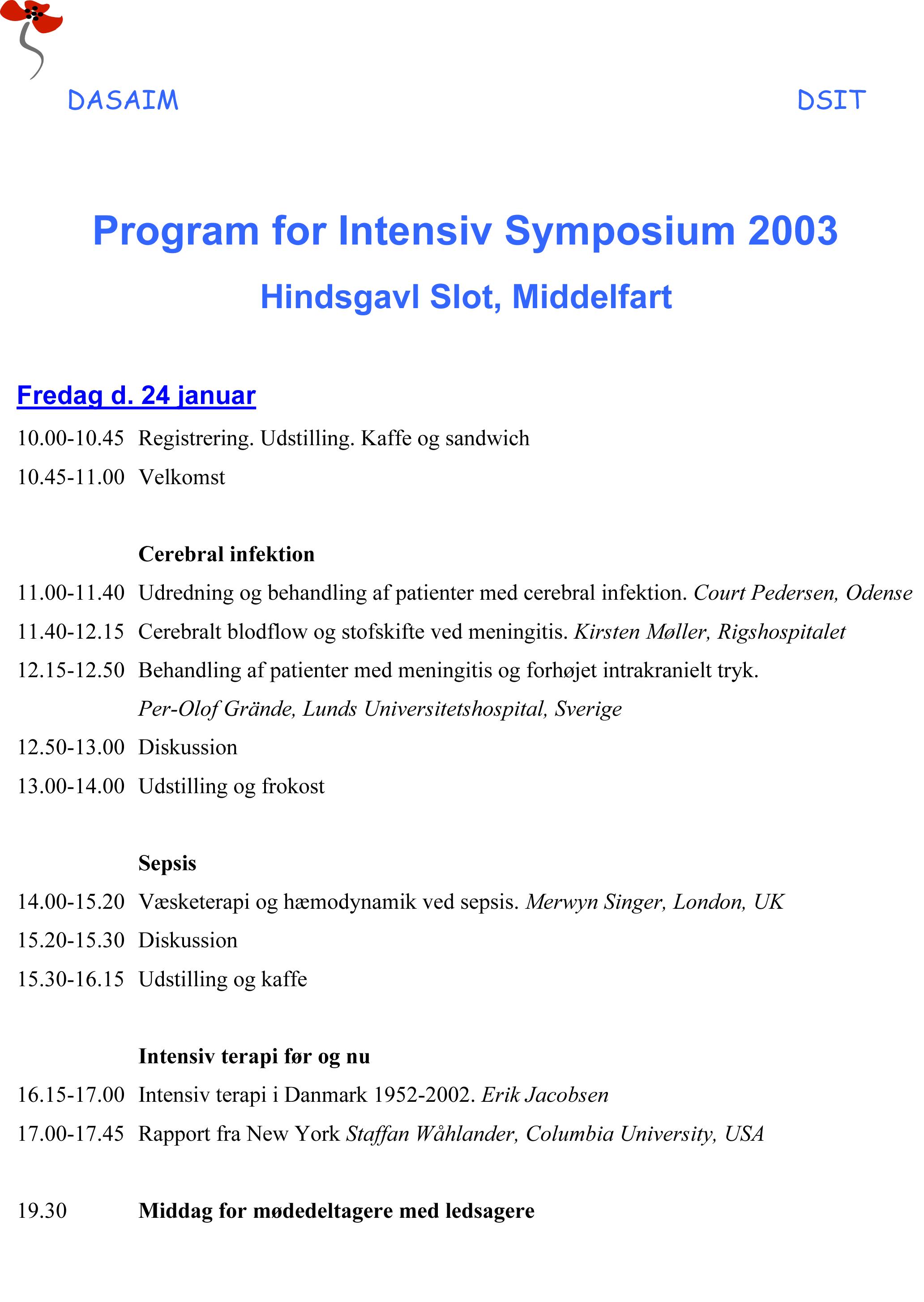 Program 2003